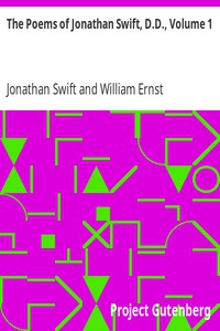 The Poems of Jonathan Swift, D.D., Volume 1 by Jonathan Swift